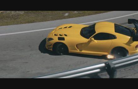 Dodge Viper Yellow at Alaska Raceway Park, Palmer, Alaska 2018