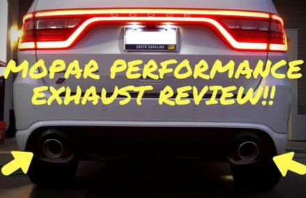 First Mopar Performance Exhaust for Dodge Durango SRT – Review!! Garland Texas 2018