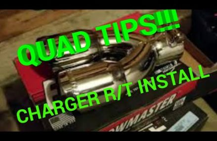 QUAD TIPS!!! Flowmaster quad exhaust tips install on Charger R/T 2017 Near 38004 Atoka TN