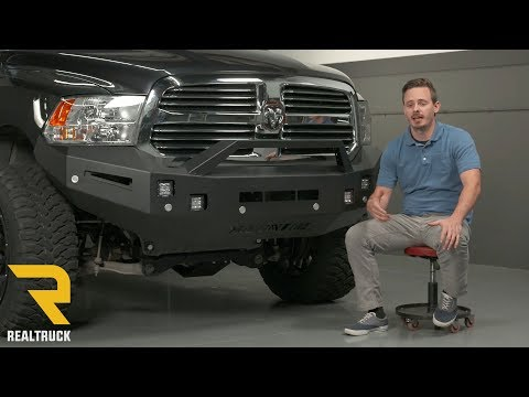 How To Install Ici Magnum Rt Front Bumper On A 2017 Ram 1500 Place