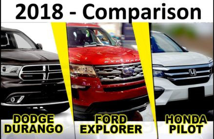 Midsize 3row SUVs comparison. 2018 Dodge Durango, Ford Explorer, Honda Pilot. Car Wings Chandler Arizona 2018