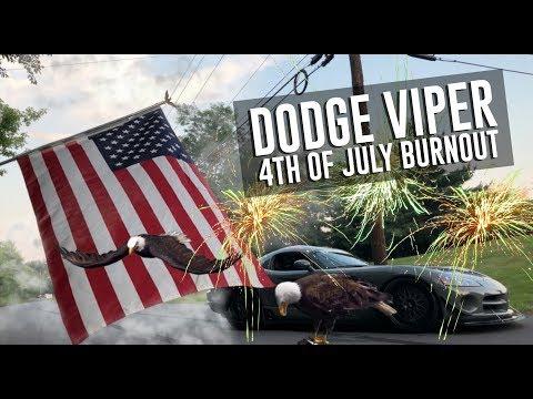 Dodge Viper Burnout, Kalamazoo Speedway, Kalamazoo, Michigan