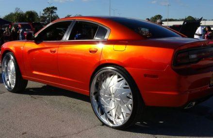 Veltboy314 – Candy Orange Dodge Charger On 30″ DUB Wheels – 2K17 Florida Classic – Orlando, FL Around Zip 40003 Bagdad KY