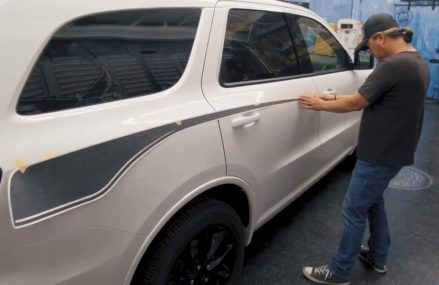 2018 Dodge Durango Propel Side Door Rear Quarter Vinyl Stripe – Installation (MoProAuto) Greensboro North Carolina 2018