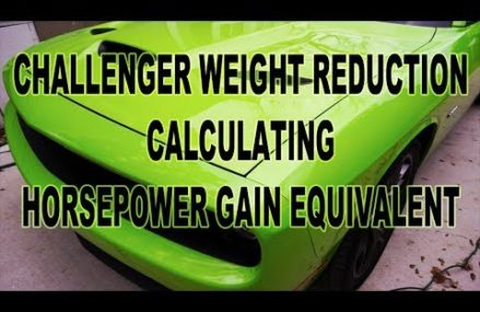 Vehicle Weight Reduction – Dodge Challenger For 13020 Apulia Station NY