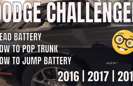 How To Jump Start A Dodge Challenger   BATTERY DEAD For 40402 Annville KY