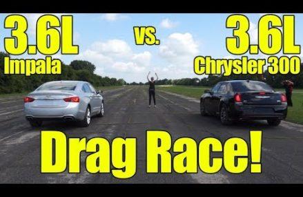 Chevrolet Impala 3.6L vs Chrysler 300 3.6L Drag Race! Mesa Arizona 2018