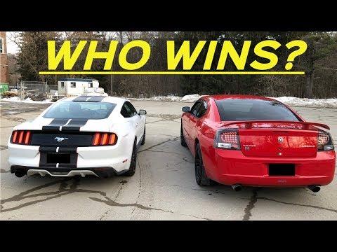 2009 Dodge Charger 3 5l V6 Vs 2016 Ecoboost Mustang Drive Bys 0