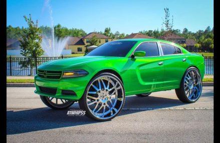 Slime Green Dodge Charger On 32s Forgiato Around Zip 68313 Beaver Crossing NE