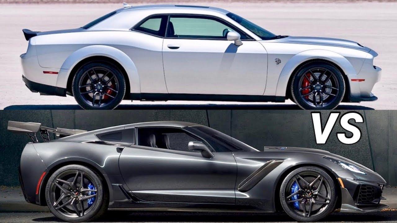 2019 Corvette Zr1 Vs Dodge Challenger Srt Hellcat Redeye Tampa