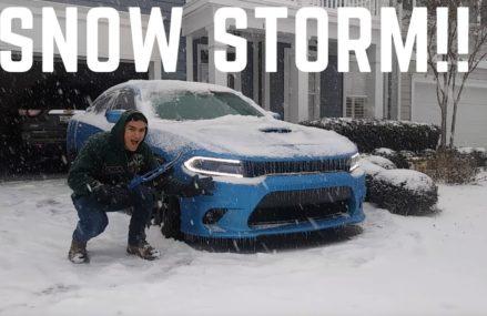 Dodge Charger ScatPack VS Snow Storm!! at 71219 Baskin LA