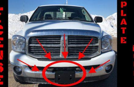 Dodge Ram License Plate Mount Installation Video Around Streets in 29488 Walterboro SC