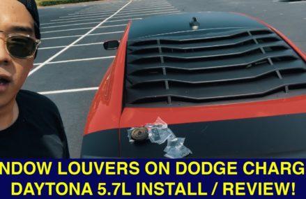 Window Louvers on 2018 Dodge Charger Daytona 5.7L Ikon motorsports louvers Around Zip 91002 Altadena CA