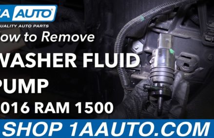 How to Remove Replace Washer Fluid Pump 2016 Ram 1500 San Antonio Texas 2018