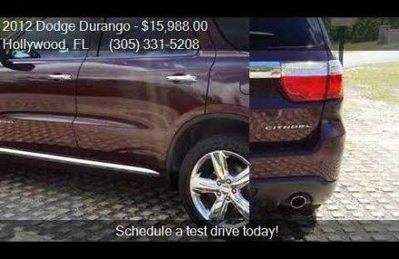 2012 Dodge Durango Citadel 4dr SUV for sale in Hollywood, FL Pittsburgh Pennsylvania 2018