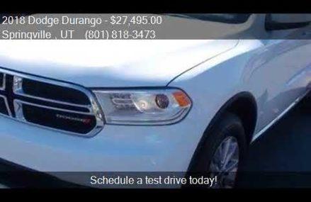 2018 Dodge Durango SXT Plus AWD 4dr SUV for sale in Springvi Escondido California 2018