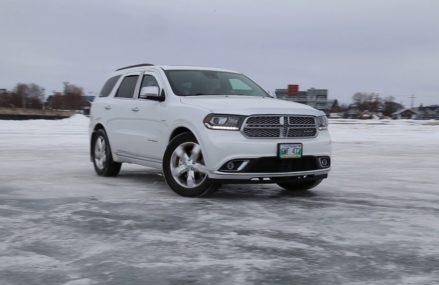 Dodge Durango Citadel HEMI on frozen lake Cleveland Ohio 2018