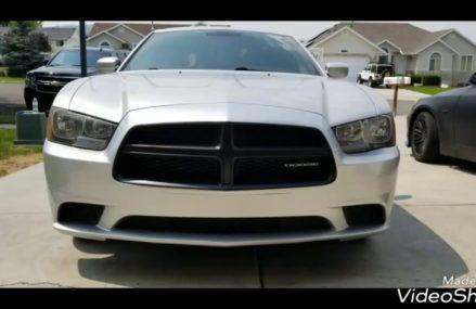 Dodge charger matte black grille and emblem plasti dip at 51002 Alta IA