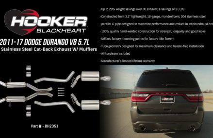2011-17 Dodge Durango V8 5.7L 2.5″ Stainless Steel Cat-Back Exhaust With Mufflers Savannah Georgia 2018
