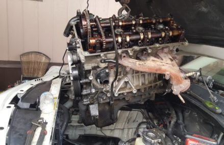 Dodge Stratus Engine Removal at Saint Paul 55121 MN