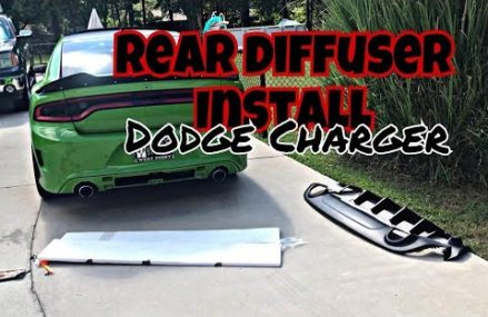 How to install a REAR DIFFUSER on a Dodge Charger! STEP BY STEP Within Zip 99509 Anchorage AK