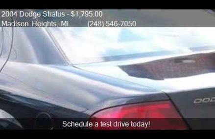 Dodge Stratus For Sale In Michigan, San Diego 92115 CA