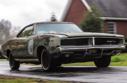 ABANDONED 1969 Dodge Charger Drives After 34 Years at 42020 Almo KY