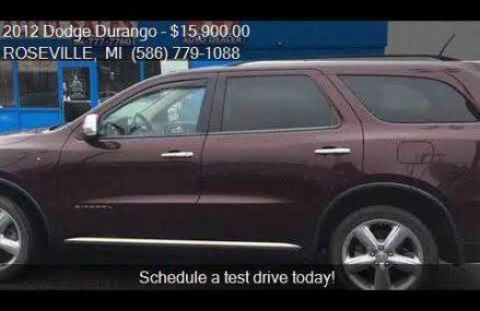 2012 Dodge Durango Citadel AWD 4dr SUV for sale in ROSEVILLE Cincinnati Ohio 2018
