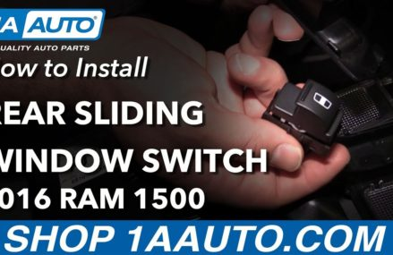 How to Install Replace Rear Sliding Window Switch 2016 Ram 1500 Local Area 21871 Westover MD