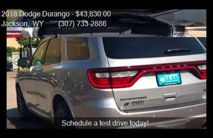 2018 Dodge Durango GT AWD 4dr SUV for sale in Jackson, WY 83 Yonkers New York 2018