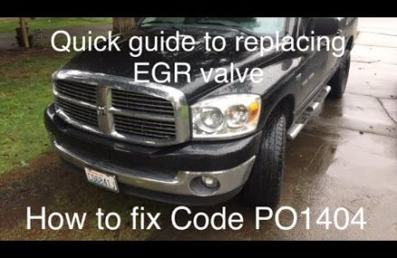 How to replace EGR valve on 5.7 Dodge Hemi Code PO1404 Lakewood Colorado 2018
