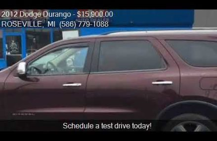 2012 Dodge Durango Citadel AWD 4dr SUV for sale in ROSEVILLE Rockford Illinois 2018