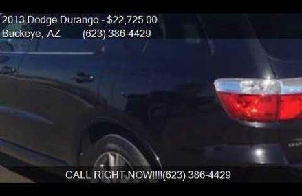 2013 Dodge Durango R/T 4dr SUV for sale in Buckeye, AZ 85326 Los Angeles California 2018