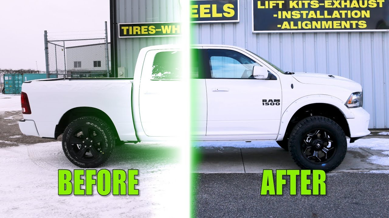 Custom 2018 Dodge Ram 1500 - Before and After Modifications