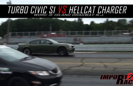Turbo Civic Si vs Hellcat Charger From 12719 Barryville NY