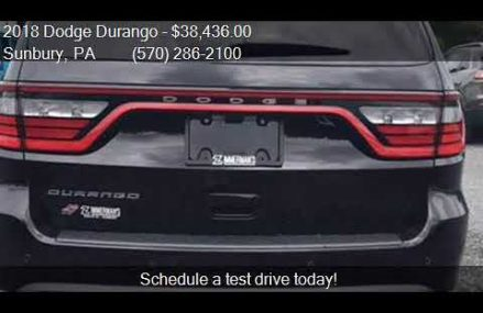 2018 Dodge Durango SXT AWD 4dr SUV for sale in Sunbury, PA 1 Lubbock Texas 2018