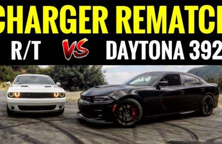 Dodge Charger DAYTONA 392 vs Challenger RT | STREET RACE & BURNOUTS! at 56116 Beaver Creek MN