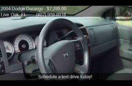 2004 Dodge Durango SLT 4WD 4dr SUV for sale in Live Oak, FL New York City New York 2018