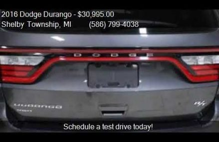 2016 Dodge Durango R/T AWD 4dr SUV for sale in Shelby Townsh Aurora Illinois 2018
