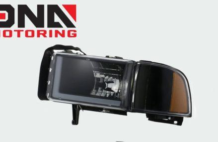 94-01 Dodge Ram 1500 2500 3500 Black / Amber Headlights Local 6703 Waterbury CT