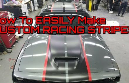 CUSTOM RACING STRIPES  How To Make Custom Racing Stripes Using Vinyl Wrap at 44202 Aurora OH