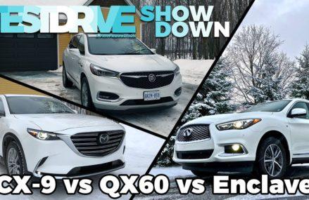 Mazda CX-9 vs Infiniti QX60 vs Buick Enclave | TestDrive Showdown San Antonio Texas 2018