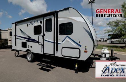General RV Center   2019 Coachmen Apex Nano193BHS   Travel Trailer Local Millbrook 12545 NY