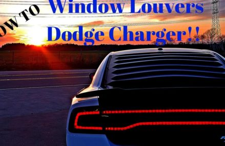 Window Louvers Install 2011-2014 Dodge Charger RT From 29001 Alcolu SC