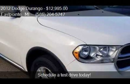 2012 Dodge Durango Crew AWD 4dr SUV for sale in Eastpointe, Anchorage municipality Alaska 2018