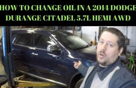 HOW TO CHANGE OIL AND RESET OIL LIFE IN A 2014 DODGE DURANGO CITADEL 5.7L HEMI AWD Hollywood Florida 2018