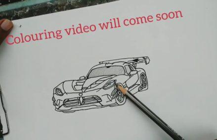 Dodge Viper Drawing Near Bandimere Speedway, Morrison, Colorado 2018