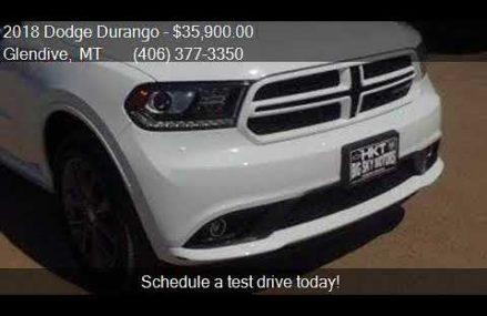 2018 Dodge Durango GT AWD 4dr SUV for sale in Glendive, MT 5 Bridgeport Connecticut 2018
