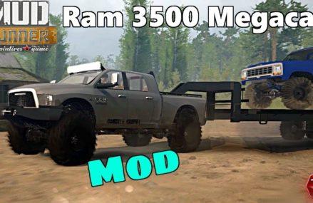 SpinTires Mud Runner: MODS, Dodge Ram 3500 Cummins Megacab Area Near 45387 Yellow Springs OH