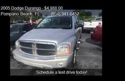 2005 Dodge Durango SLT 4dr SUV for sale in Pompano Beach, FL Winston-Salem North Carolina 2018